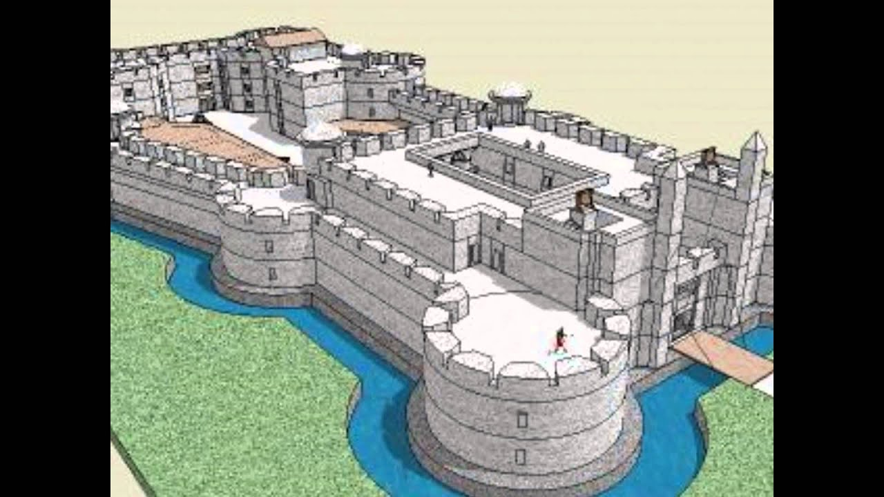 Design House Blueprint Free Medieval Castles Youtube
