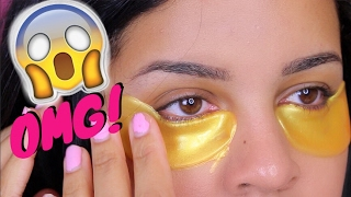 DOES IT WORK?? | GOLD Eye Mask first impression review