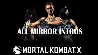 Mortal Kombat X - All Intros interactions (Mirror)