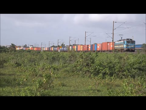 Dashing & Colourful Double Dose Of Kerala Sampark Kranti Exp & Container Train At Scenic Bhilad