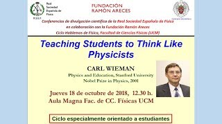 Teaching Students to Think Like  Physicists. Carl Wieman. Nobel Prize in Physics 2001 UCM thumbnail