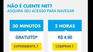 #NET-WIFI Internet grátis por 30 minutos diários degustação