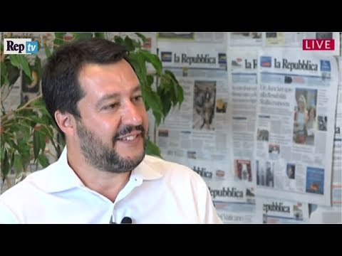 Ius soli, ballottaggi, legge elettorale: videoforum con Matteo Salvini