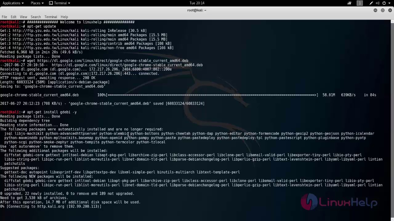 How to install chrome on kali linux