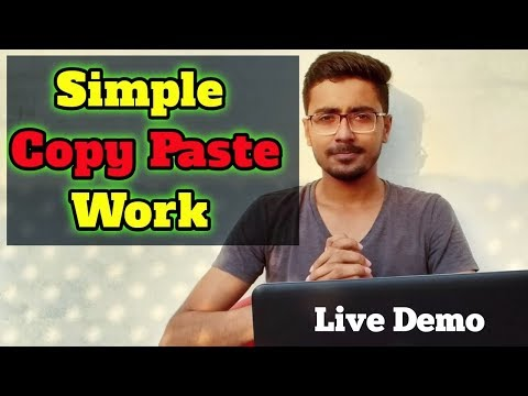 Simple Copy Paste Data Entry Work for Beginners