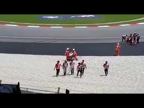 Moto 2 mohd idham pawi crash at sepang 2017