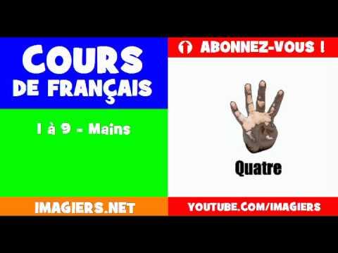 เรียนรู้ภาษาฝรั่งเศส = ตัวเลขต่างๆ = 1 9 มือ =