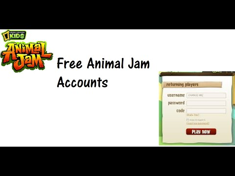 Free chat animal jam accounts with password