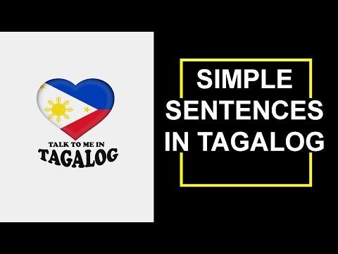 Tagalog (Filipino) Language  SIMPLE SENTENCES IN TAGALOG