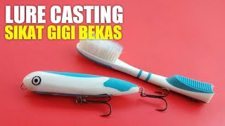 Making Fishing Lure Out Of Toothbrush #1 - Stickbait