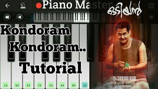 Kondoram Odiyan Theme Song | Piano Tutorial | Odiyan Songs On Piano |