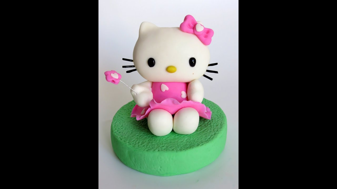 How to do fondant Hello Kitty fondant Hello Kitty stepbystep