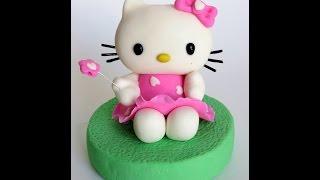 How to do fondant Hello Kitty - fondant Hello Kitty step-by-step tutorial