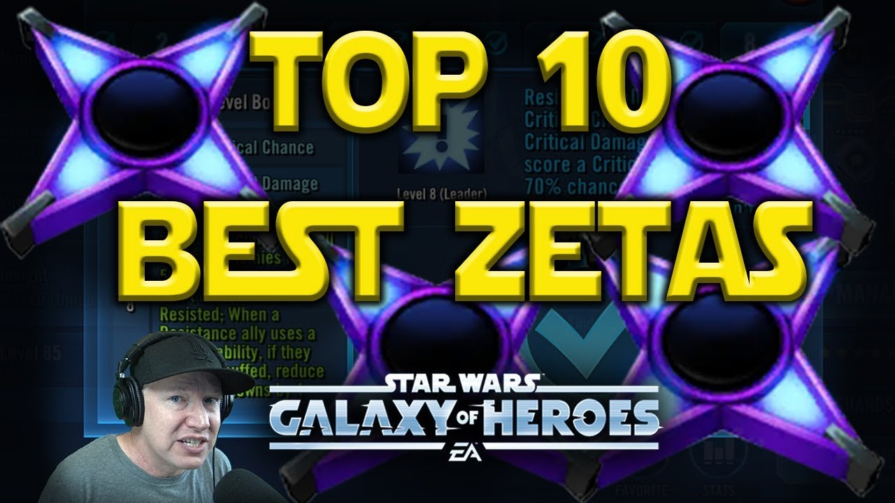 Top 10 Best Zetas Jan 2019 - Star Wars: Galaxy of Heroes - SWGoH
