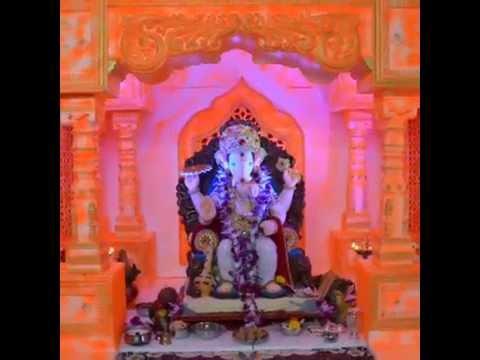 Ganpati decoration makhar mahal 2013(Akash borade & family ...