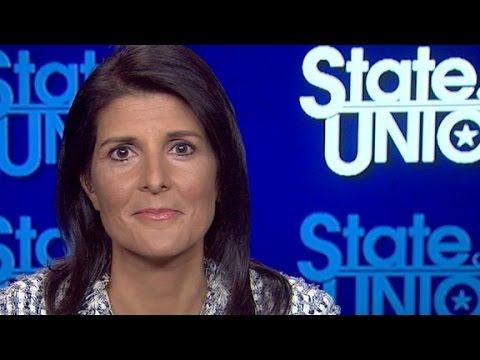 Nikki Haley defends Trump's refugee stance
