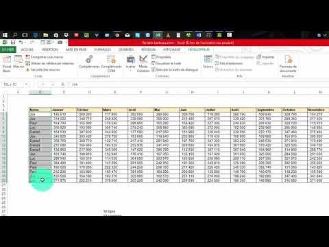 Excel Vba Variable Tableaux Part 3 Tableaux Dynamique A 2 Dimensions Redim Preserve Youtube