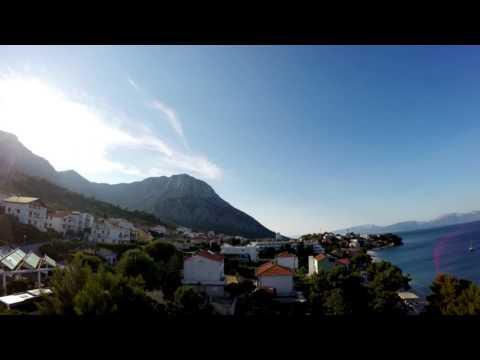 Time-lapse, Night to Sunrise Gradac, Croatia (Kroatië) Gopro hero 4 (stars with gopro)