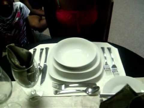 Table Setting And Manners Demonstration For A Four Course Meal