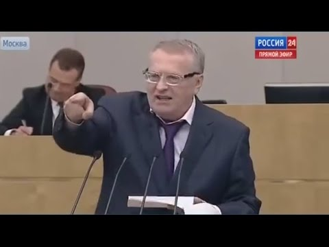 Russian politician Zhirinovsky genius speech about russophobia in Ukraine (English subs)