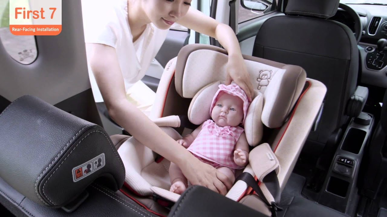First7(D-1003) Car Seat Rear Facing Installation - YouTube