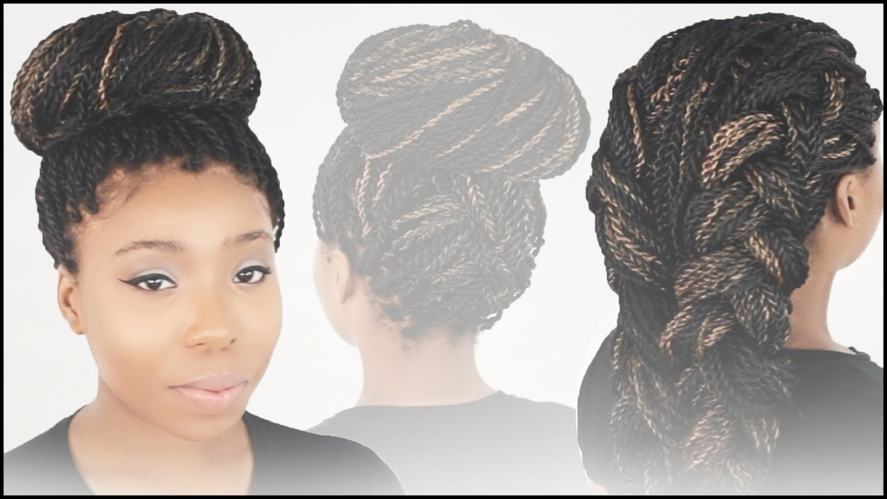 Crochet Braids Bun Styles : Hairstyles For Mrs Rutters Perimeter Crochet Senegalese Twist ...