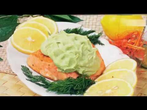 Рецепт Горячие вторые блюда на НОВЫЙ ГОД 2016, вкусное новогоднее меню Жареная семга с авокадо New salmon
