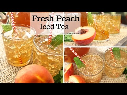How to Make Fresh Peach Iced Tea