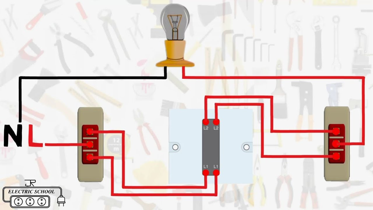 intermediate 3 way switch wiring diagram