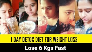 I Tried 1 Day Detox For Weightloss   LOSE 6 KGS IN 1 MONTH   1 Month Detox Diet Plan