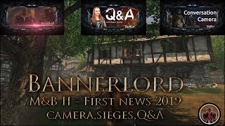 First Mount & Blade 2: Bannerlord🌉 News 2019 Update (Camera, Sieges, Settlement Issues, Q&A)