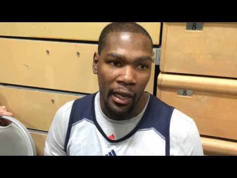 Durant: Shootaround in Los Angeles - Jan. 8, 2016