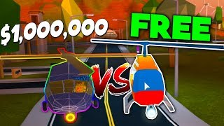 *NEW* MILITARY HELICOPTER VS REGULAR HELICOPTER - Roblox Jailbreak (1 Year Update)