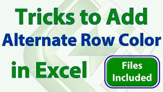 3 Amazing Tricks to Add Alternate Row Colors in Excel