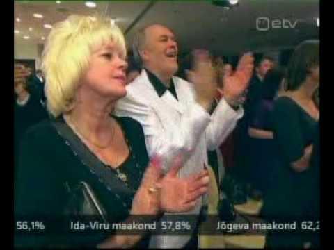 Keskerakond pidu valimiste võit 18.10.2009 Jüri Ratas ja Edgar Savisaar