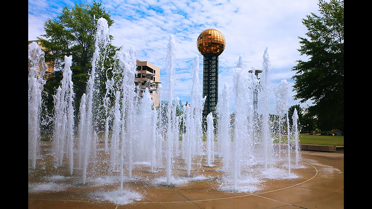 worlds fair park water fountains knoxville tn