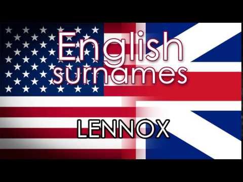 English surnames  LENNOX - pronounce