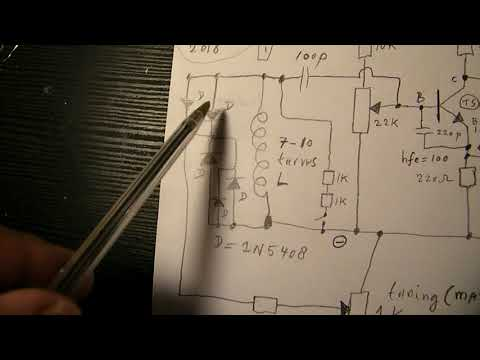 Broadband Sine wave radio oscillator (VFO) 3 MHz-18 MHz schematic with FET buffer stage