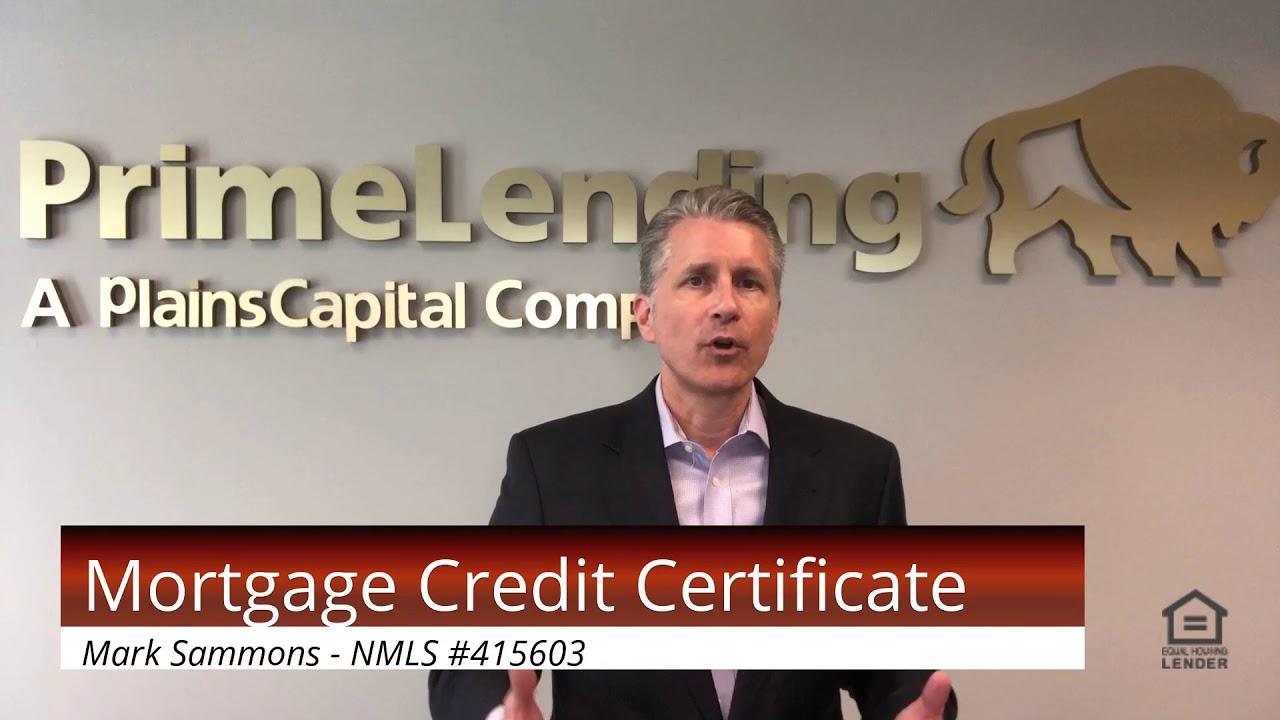 certificate mortgage credit