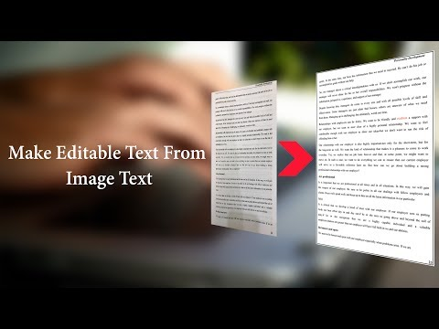 Convert Image To Editable Text ( Image To Text Converter) Using OCR