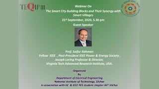 Webinar on 'The Smart City Building Blocks and their Synergy with Smart Villages' on 21.09.2020