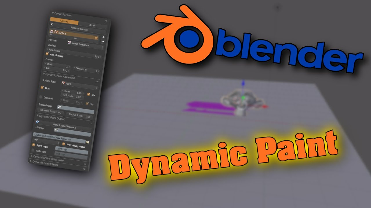 Blender Tutorials - Tutorial: Dynamic Paint - YouTube