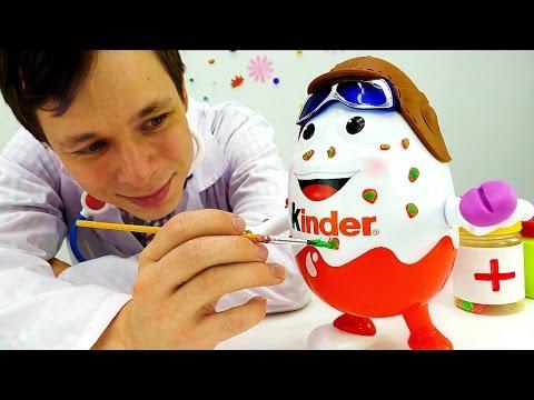 Видео, Киндер Сюрприз на приеме у доктора Ой. Мультики с игрушками