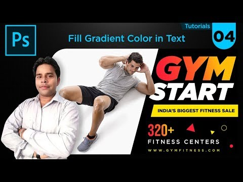 How to Use Gradient Color in Photoshop CC, Banner Design Tutorial Hindi Episode 04|By Rajman Design thumbnail