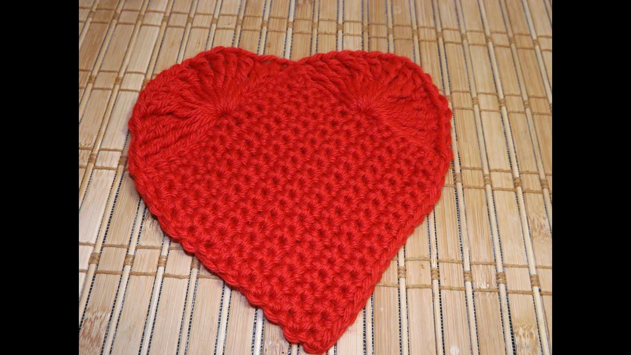 Corazon de San Valentin a crochet - con Ruby Stedman - YouTube