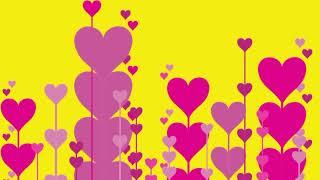 Rosa Liebe-und Gelb-Animation Hochzeit Hintergrund-Full-HD | DMX-HD-BG-291