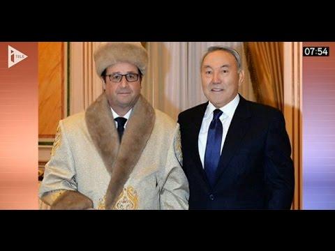 """Kazakhstan : La photo de Hollande """"rhabillé"""" pour l'hiver !  06/12"""