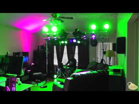 My Old Martin Lighting Rig, 4 MX10 Scanners 2 Wizard Extreme Lights, and ADJ LED Wash