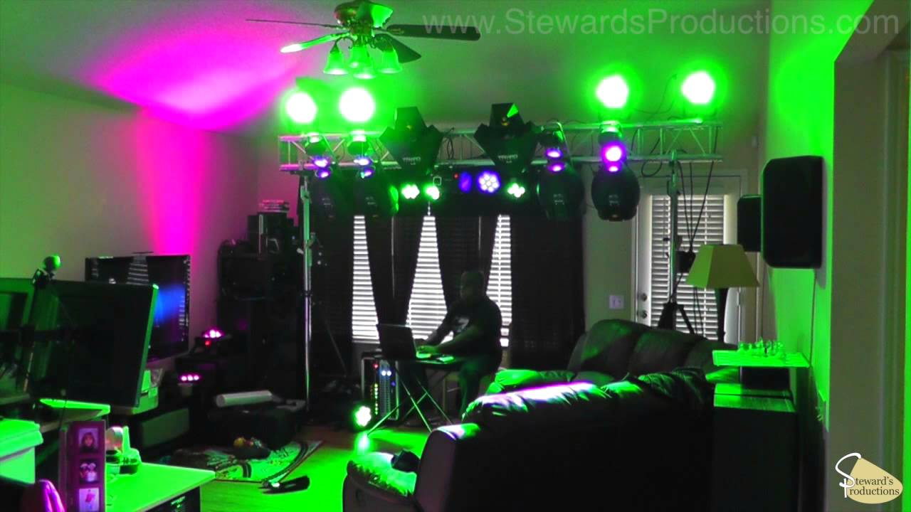 My Old Martin Lighting Rig 4 Mx10 Scanners 2 Wizard
