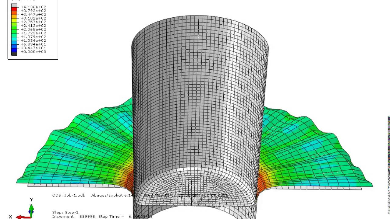 abaqus thesis The results from the abaqus model, a specification can be recommended that will result in acceptable concrete for large cidh piles that in the range of 6 to 14 feet in diameter.